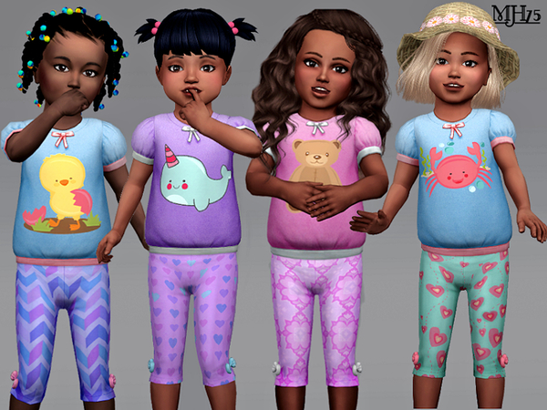 S4 Toddler Outfit (Set-8 Versions) by Margeh-75