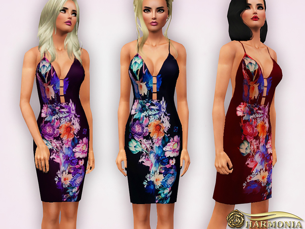 Floral Placement Pencil Dress by Harmonia
