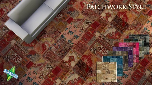 Patchwork Style Carpet Floors by Saratella