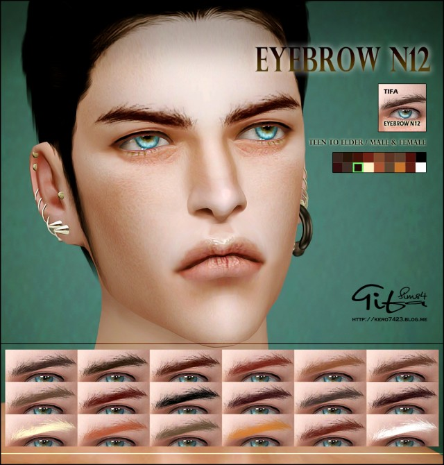 Eyebrow N12 Male & Female by Tifa