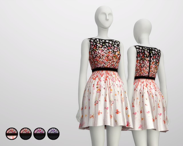 Black Cherry Blossom Dress by Red Valentino от Rusty Nail