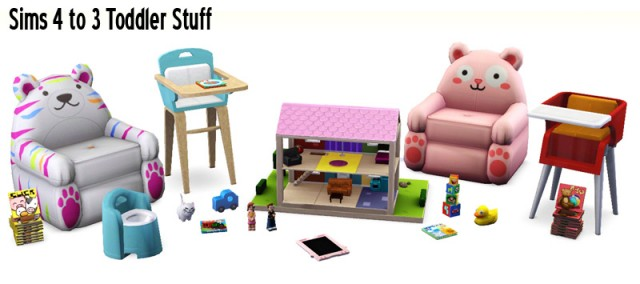 Sims 4 to 3 Toddler Stuff by Sandy