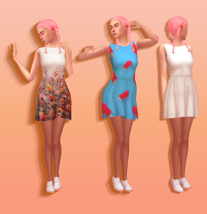 Skater Dress Recolors by KidTheSimsical