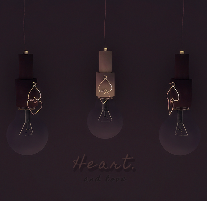 Heart Pendant Lamp by YumiaPlace