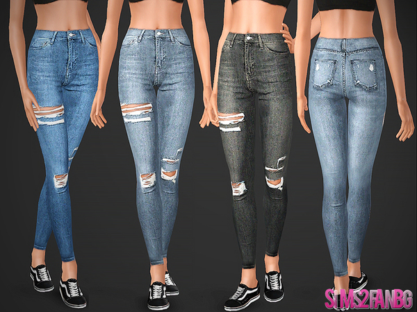 488 - Ripped Skinny Jeans by sims2fanbg