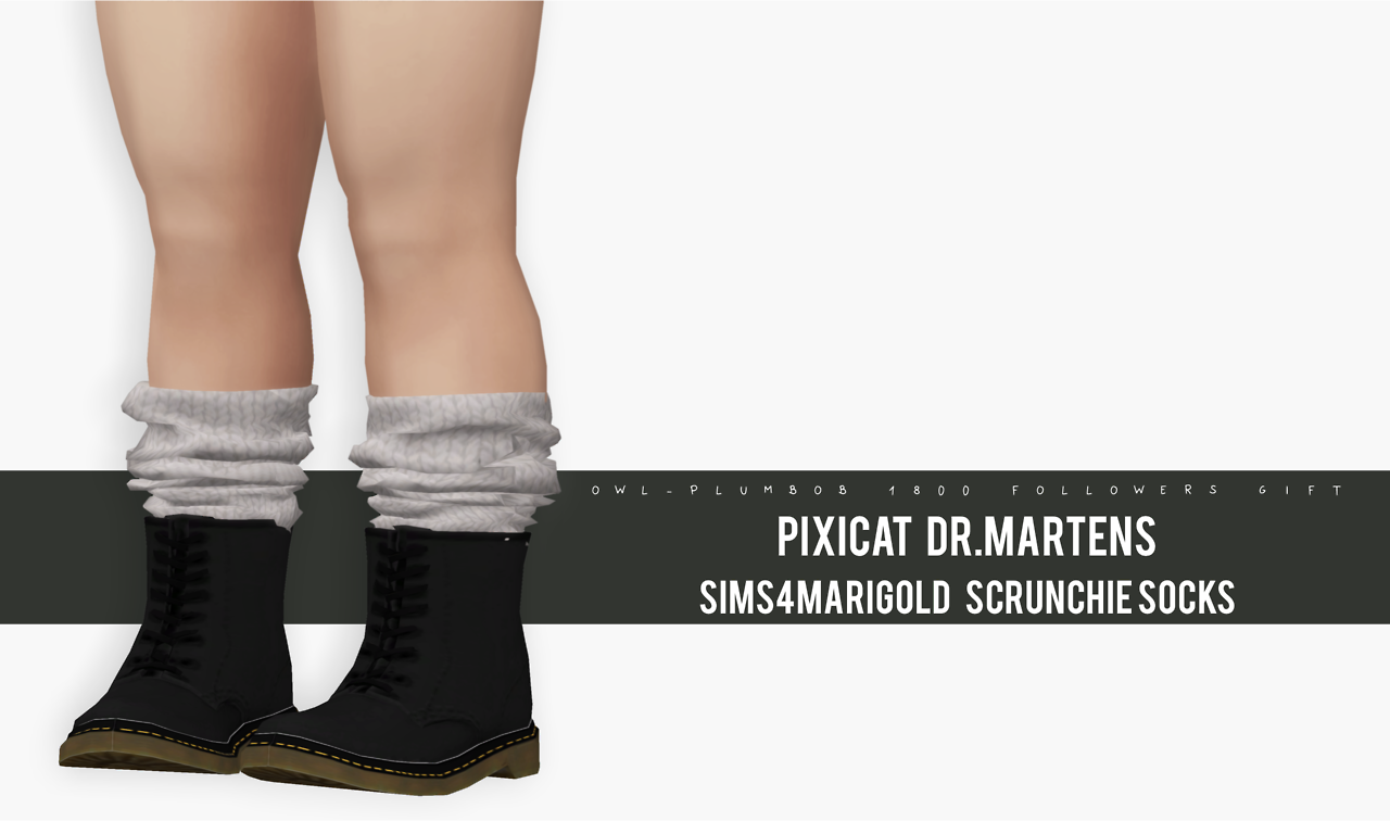 TS3 Dr. Martens Conversion and Adult Socks for Toddlers by OwlPlumbob