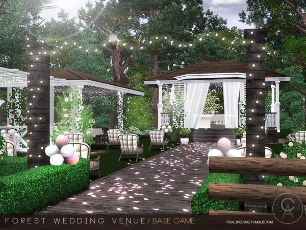 Forest Wedding Venue by Pralinesims