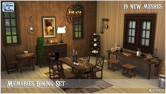 Memories Dining Set - 19 New Meshes by Mathcope