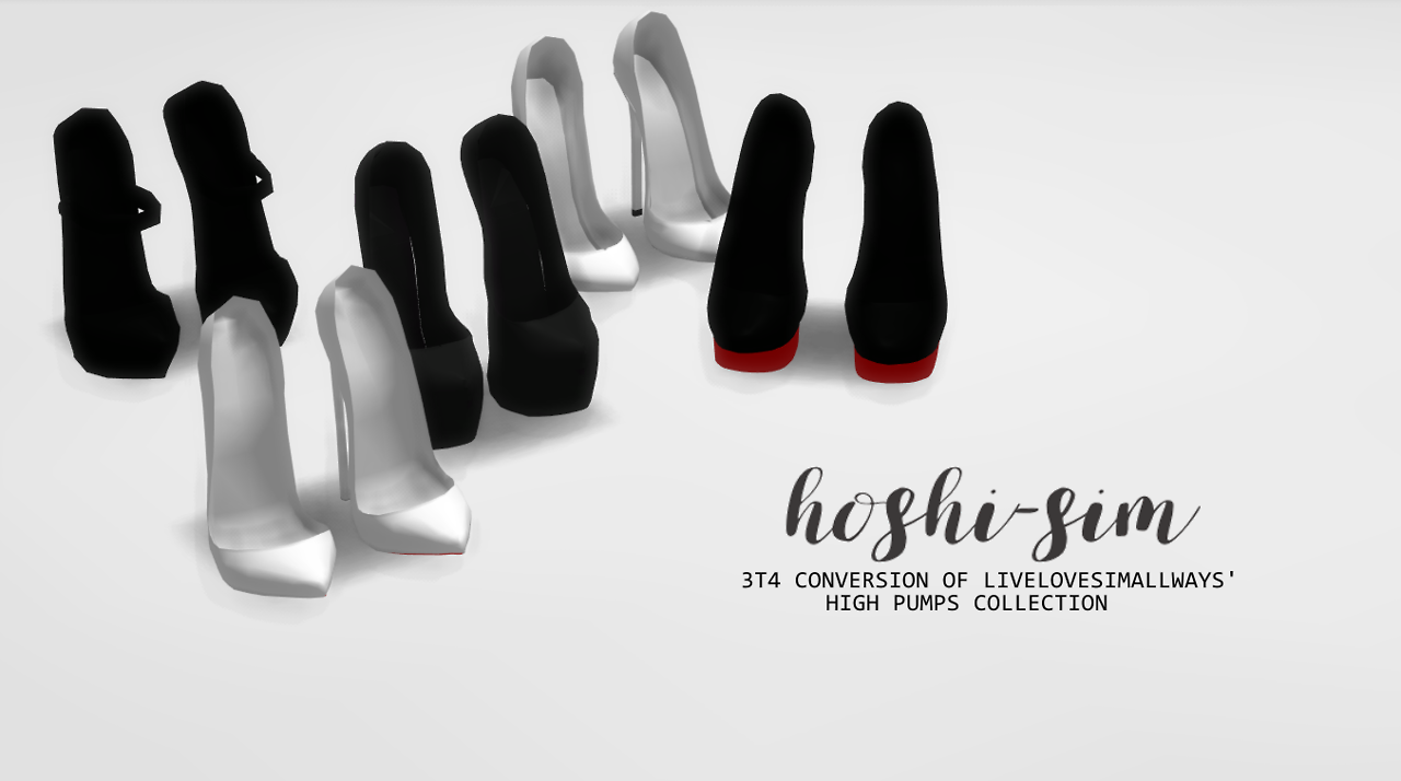 TS3 Decorative Shoes Conversion by HoshiSim