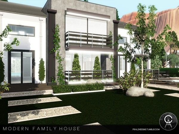 Modern Family House by Pralinesims
