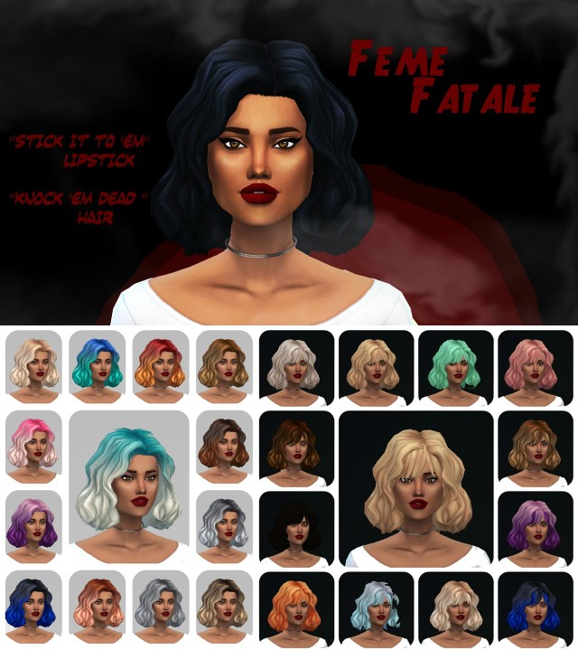 Femme Fatale Hair and Lipstick by SimplifiedSimi