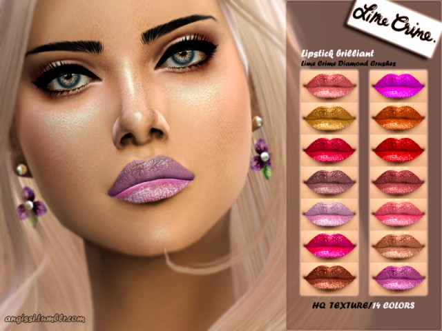 Lipstick brilliant -Lime Crime Diamond Crushes by ANGISSI