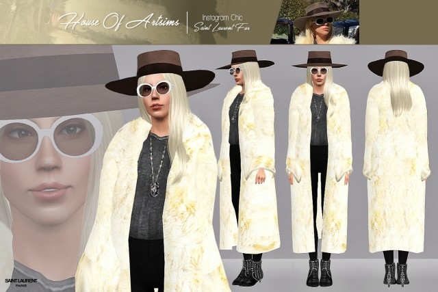 Instagram Chic  Saint Laurent Fur by ArtSims