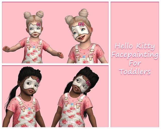 Hello Kitty Face Paintings for Toddlers by Simquin