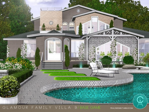 Glamour Family Villa 9 by Pralinesims