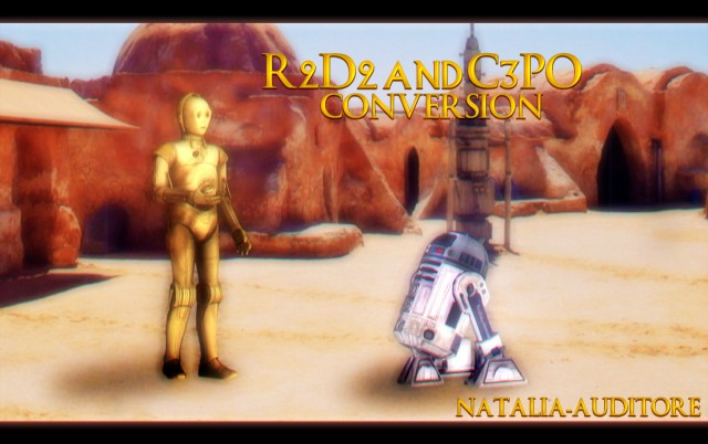 R2D2 AND C3PO CONVERSION by natalia-auditore