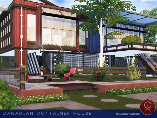 Canadian Container House by Pralinesims