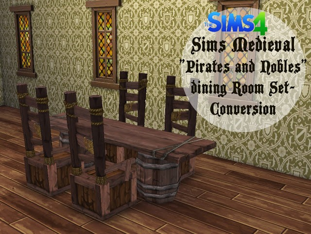 TSM Pirates and Nobles Dining Room Set by HistoricalSimsLife