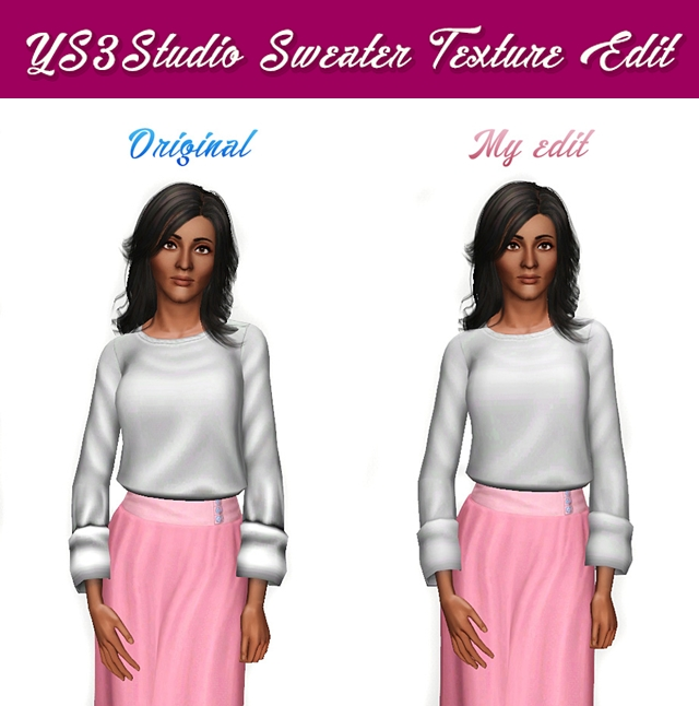 YS3Studio Roll-up Sweater Edit by sweetdevil-sims