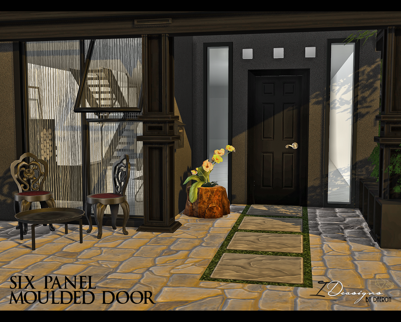 Six Panel Moulded Door (EA Mesh Edit) by Daer0n