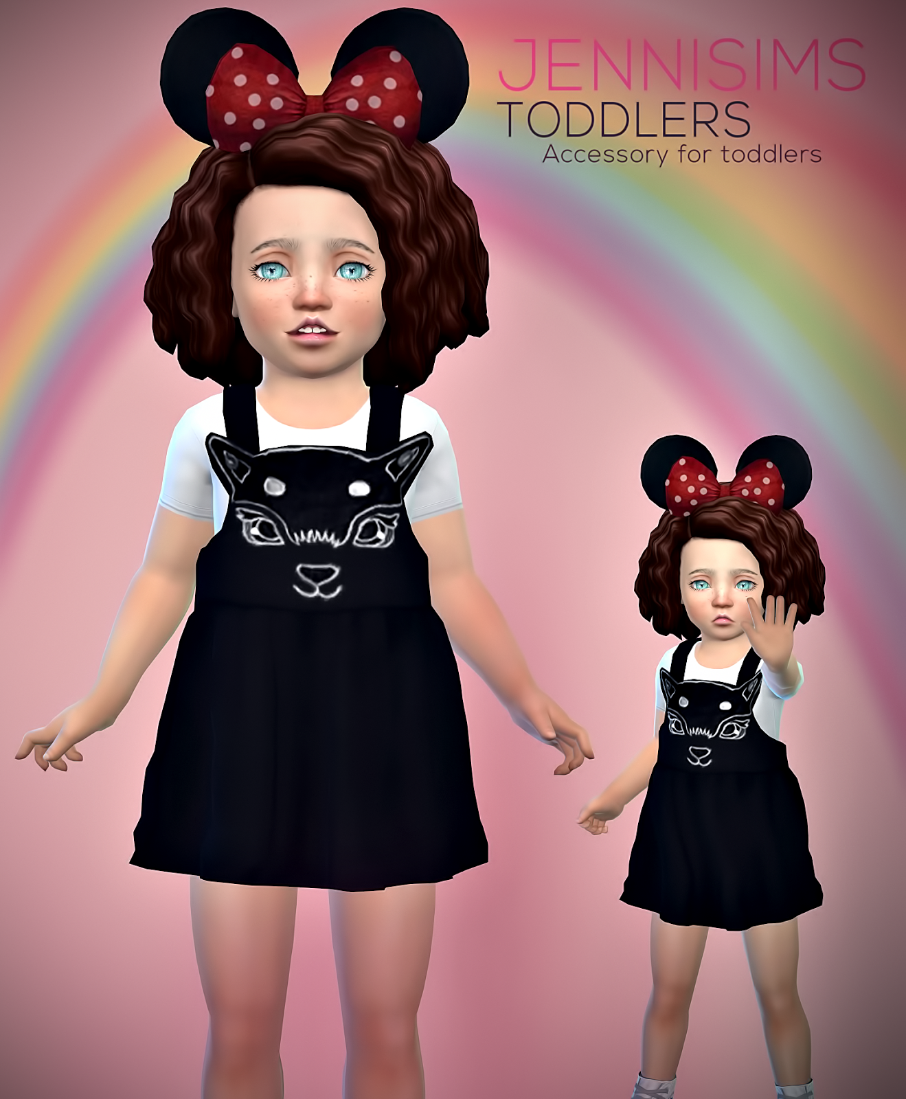 Minnie Mouse Ears for Toddlers by JenniSims