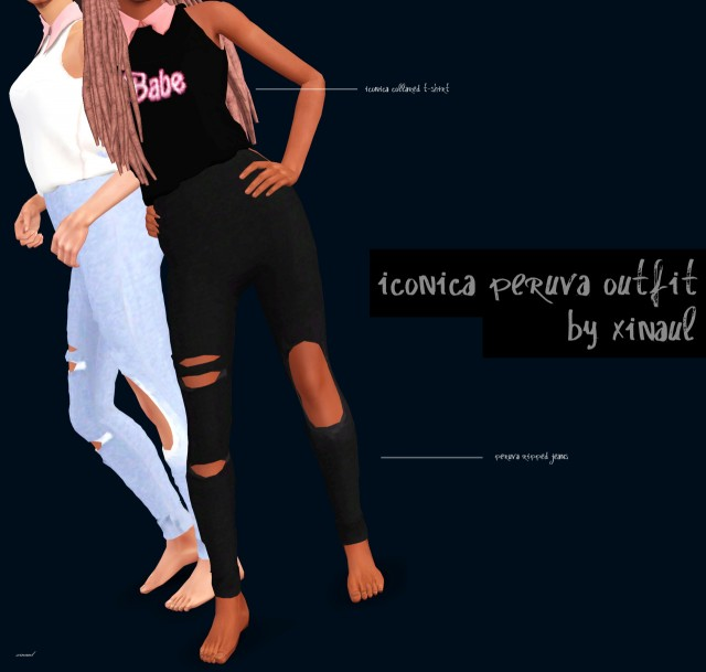 Iconica Babe Tee & Peruva Ripped Jeans by xinaul