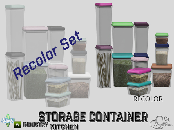 Kitchen Storage Container Recolors by BuffSumm