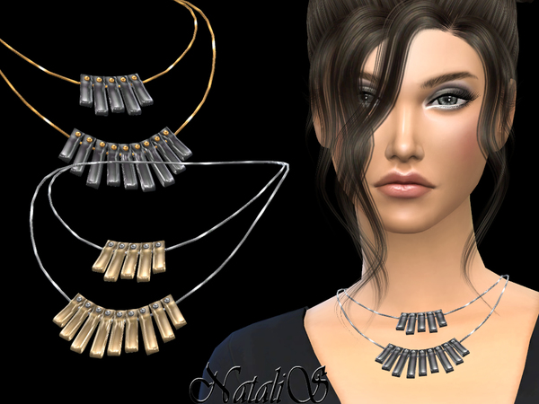 NataliS_Curved plate double necklace