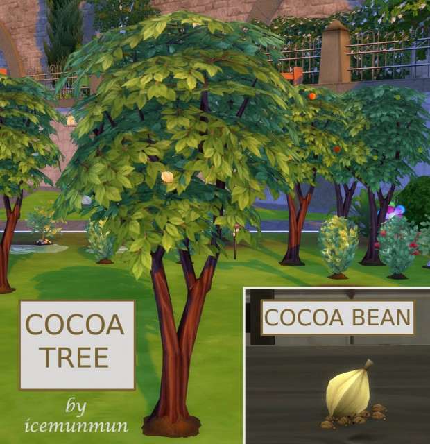Какао-дерево с оптимизацией под рецепты Harvestable Cocoa Bean + Optional-Recipes require Cocoa Bean Override by icemunmun