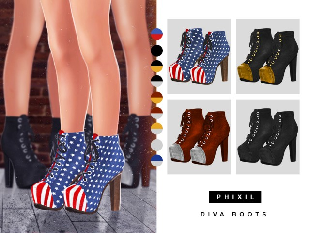 DIVA BOOTS by Phixil