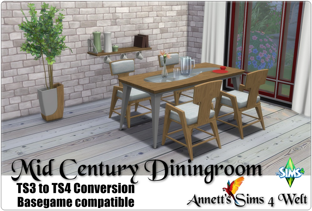 TS3 Mid Century Dining Room Set Conversion by Annett85