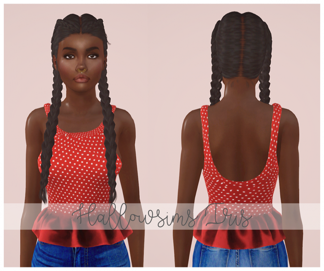 Hallowsims - Iris by Simmedmywayuptothetop