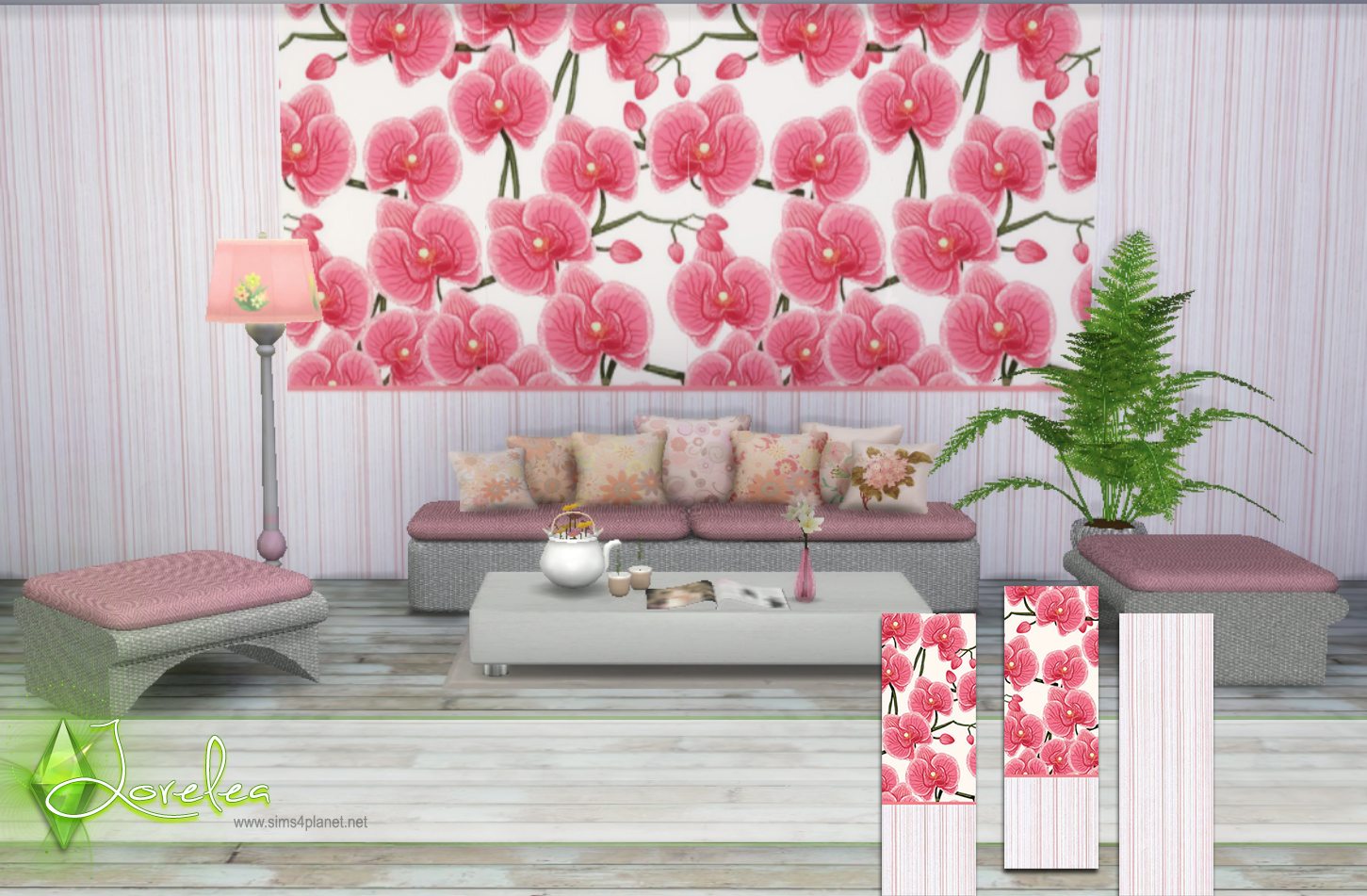 Pink orchids wallpapers by Lorelea