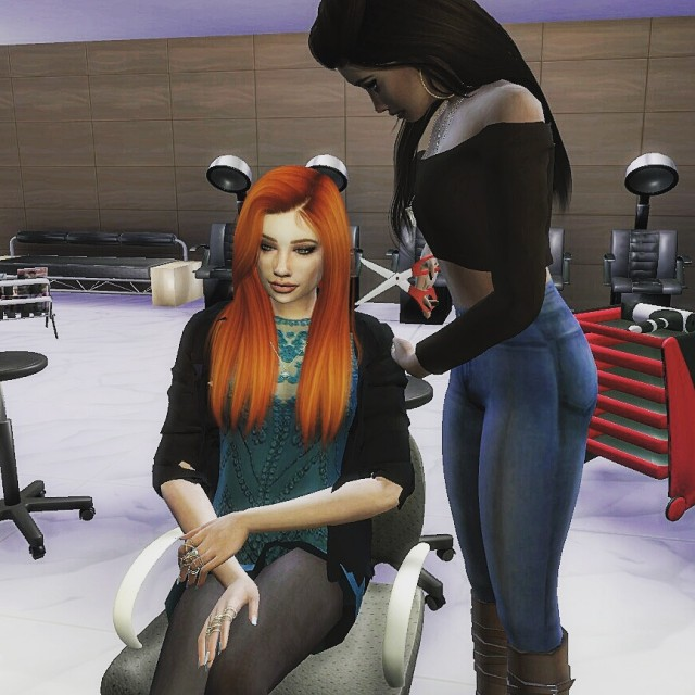Hairdresser posepack by glow-legacy