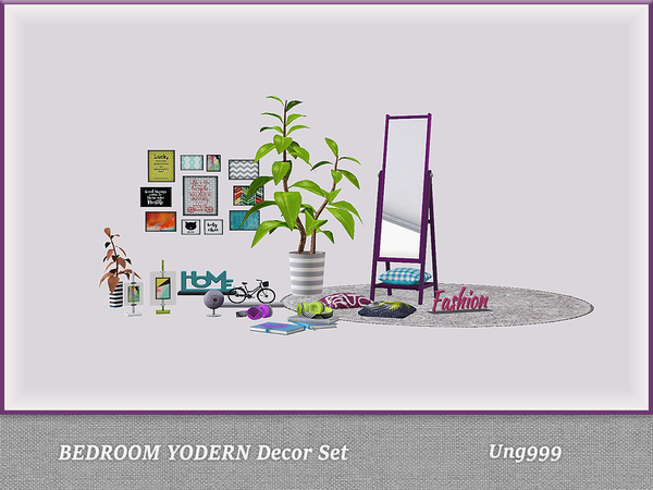 Bedroom Yodern Decor Set by ung999