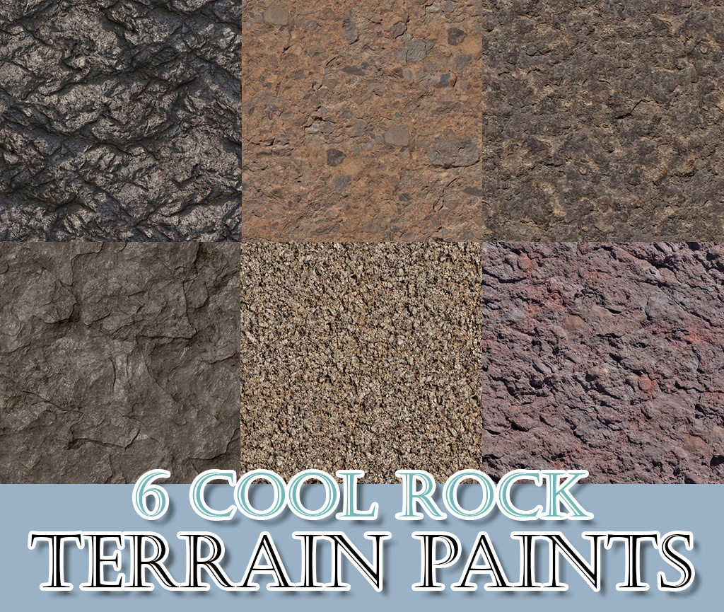 6 Cool Rock Terrain Paints by thebleedingwoodland
