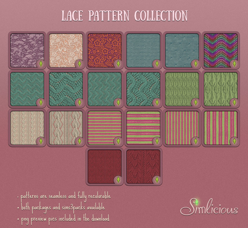 Lace Pattern Collection by Simlicious