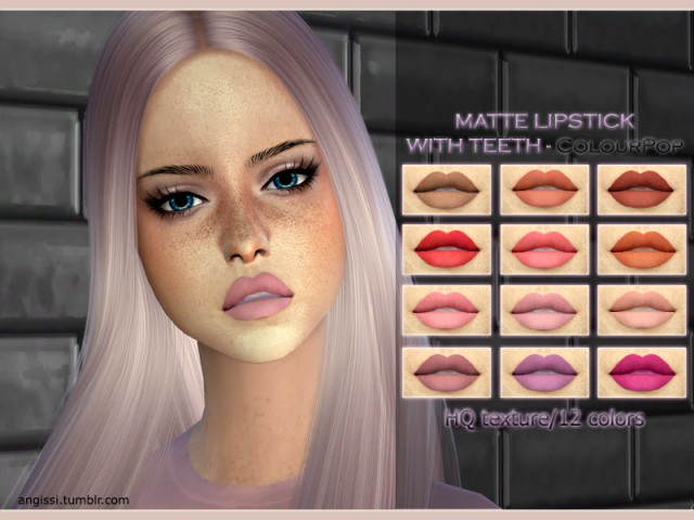 MATTE LIPSTICK WITH TEETH - ColourPop by ANGISSI
