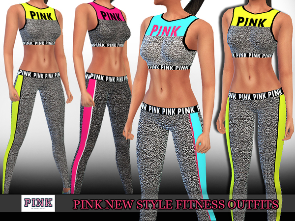 Pink Trendy Fitness Outfits by Saliwa