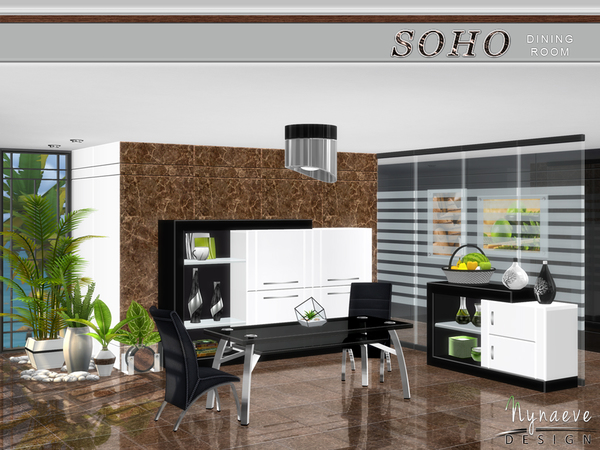 Soho Dining Room by NynaeveDesign
