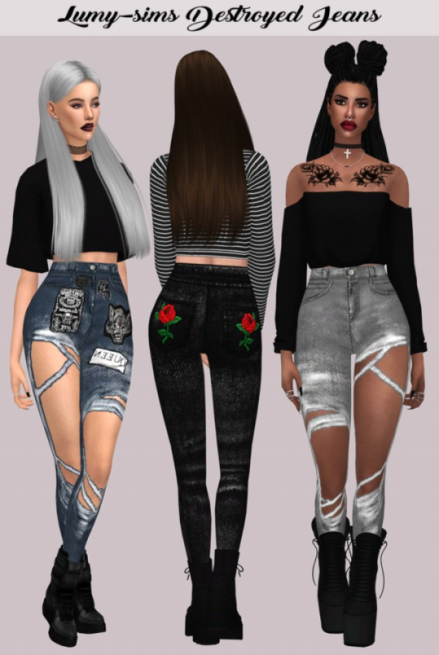 Destroyed Jeans by lumy-sims