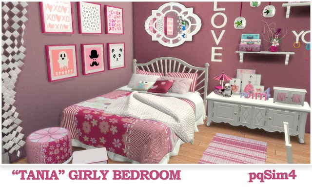 """Tania"" Girly Bedroom by pqSim4"