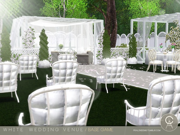 White Wedding Venue by Pralinesims