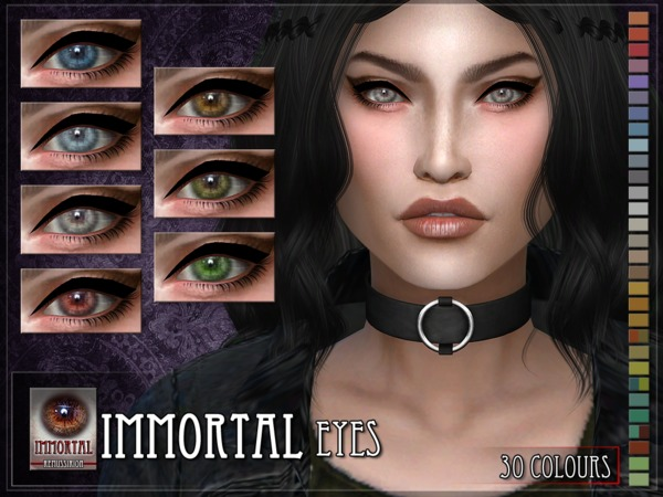 Immortal Eyes - Facepaint & Default by RemusSirion