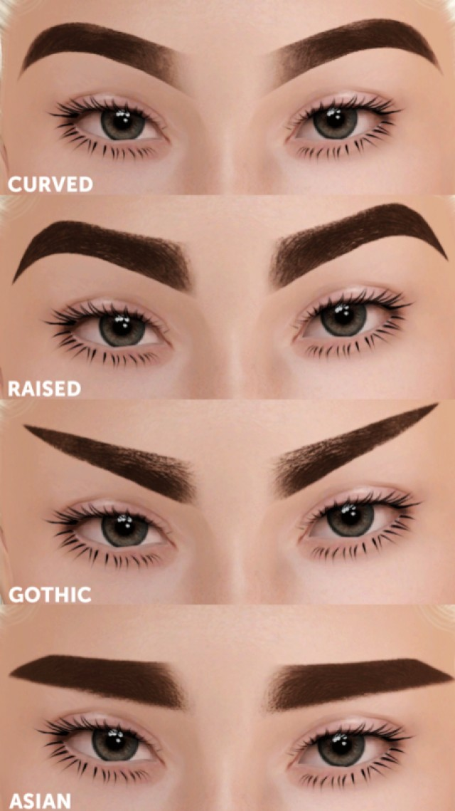 Gradient Eyebrows Pack by GramSims