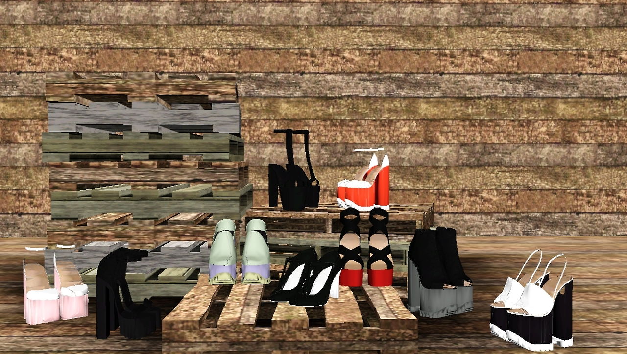 J-urassica Shoes as Decor 01-09 by lies-and-crooked-sims