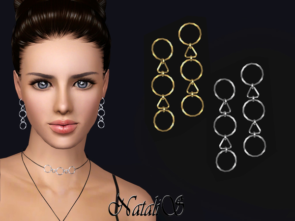 NataliS TS3 Geometric pendants drop earrings