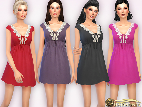Lace-trimmed Cotton Chemise by Harmonia
