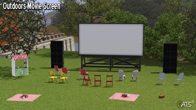 Outdoors movie screen by Sandy