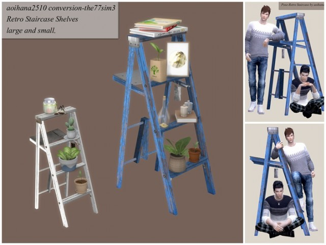 Ladder Shelf Conversions and Poses by Aoihana2510